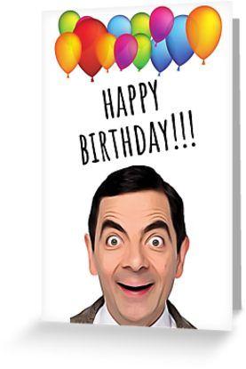 Mr Bean Birthday Card Stickers Mugs Gift Present Ideas Happy