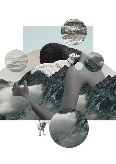 Other-worldly collage by Ola Szatkowska