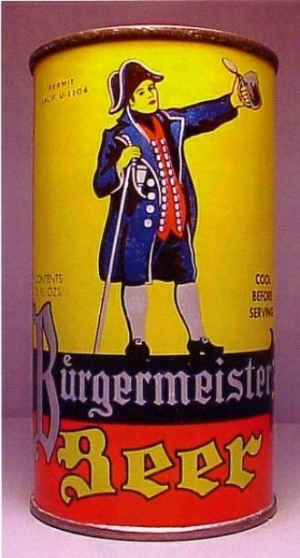 Burgermeister Beer San Fran 1939 Craft Beer Old Beer Cans Vintage Beer