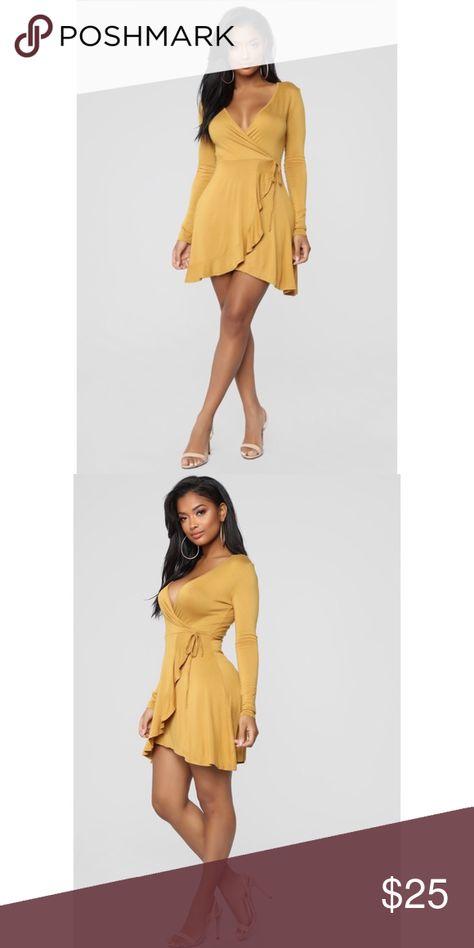 Mustard mini wrap dress New never worn Dresses Mini