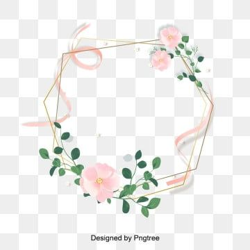 Pink Gold Fine Border Vermicelli Border Flower Painting Png And Vector In 2020 Floral Border Design Flower Painting Pink Pattern Background
