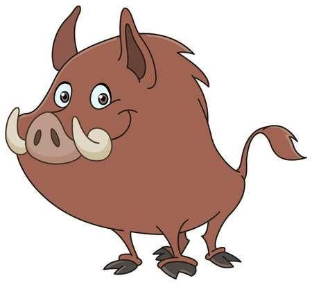Jabali O Cerdo Salvaje De Dibujos Animados Cerdo Salvaje Dibujos Animados Dibujos