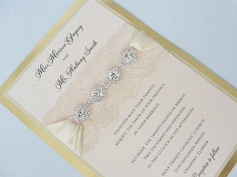These Jeweled Wedding Invitations Make