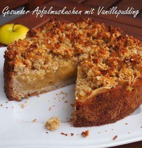Gesunder Apfelmuskuchen Mit Vanillepudding Rezept Apfelmuskuchen Backen Ohne Zucker Und Gesunde Kuchen Rezepte