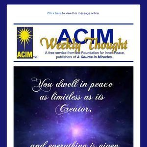 Acim Weekly Thought 12 23 18 More Than Words Words Thoughts