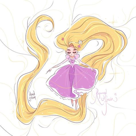 Very quick sketch to celebrate Disney's Tangled 7th anniversary for the US release. Rapunzel Forever 💜✨👸🏼 www.facebook.com/artofdavidgilson…