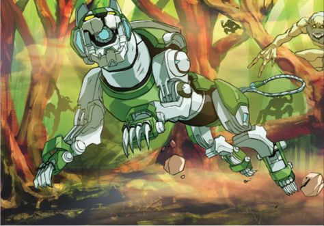 Green Lion in the rainforest of Griezian Sur from Voltron Legendary Defender