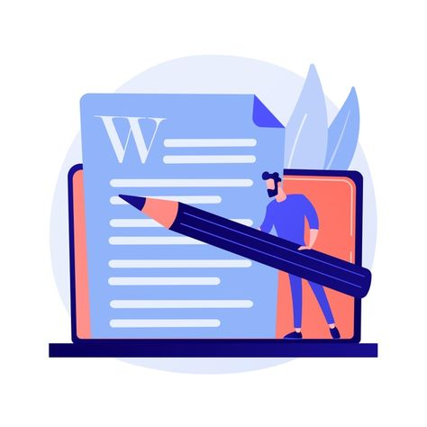Download Creative Content Writing. Copywriting, Blogging, Internet Marketing. Article Text Editing And Publishing. Online Documents. Writer, Editor Character Concept Illustration for free