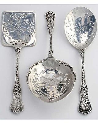 Beautiful Sterling Serving Spoons