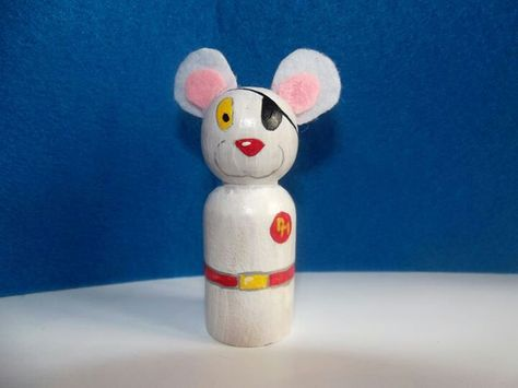 Felt ears added to wooden toy blank