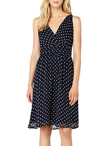 Vero Moda Damen Kleid Vmjosephine Sl Above Knee Dress Noos Mini Gr 40 Herstellergrosse L Blau Black Iris Aop Snow White Dots Kleider Damen Moda