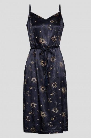 Satynowa Sukienka Midi Orsay Summer Dresses Fashion Dresses
