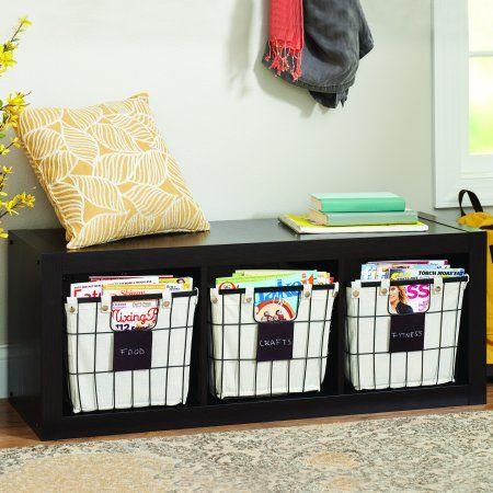 d7c1bd0e9d4dc879ab8056a8a440362a - Better Homes And Gardens Wire Basket With Chalkboard Black