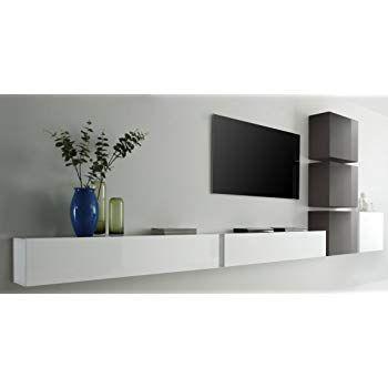 Wuun Tv Board Hangend 8 Grossen 5 Farben 140cm Matt Weiss Weiss Hochglanz Lowboard Hangeschrank Hangeboard Wohnwand