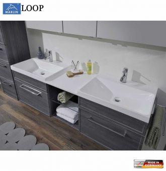 Marlin Loop Waschtisch Set 160 Cm Mit Doppelwaschtisch Und