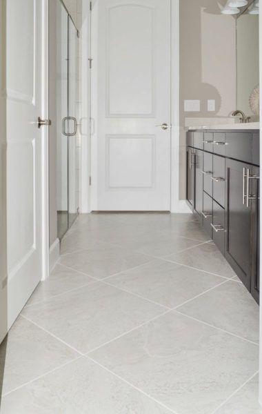 large tile bathroom
