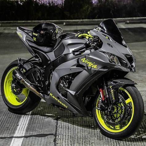 motorcycles-and-more: Kawasaki Ninja - pomozmioddycha.- motorcycles-and-more: Kawasaki Ninja – pomozmioddychac – - Gp Moto, Moto Bike, Kawasaki Motorcycles, Cool Motorcycles, Triumph Motorcycles, Vintage Motorcycles, Motorcycle Outfit, Motorcycle Bike, Women Motorcycle