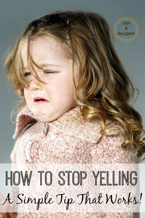 How to Stop Yelling At Your Kids - One Simple Tip