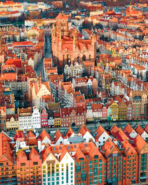 Colorful Gdansk, Poland at sunrise. Places Around The World, The Places Youll Go, Places To Visit, Around The Worlds, Monuments, Gdansk Poland, Holiday Places, Best Places To Travel, Adventure Is Out There