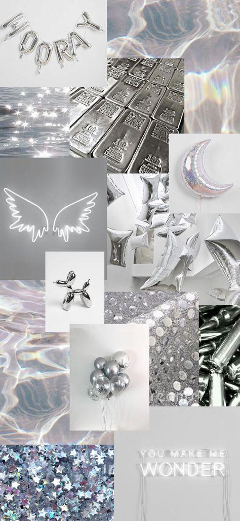 Silver aesthetic wallpaper