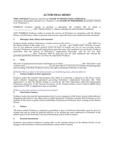Production Contract Templates Basic Contract For Wedding