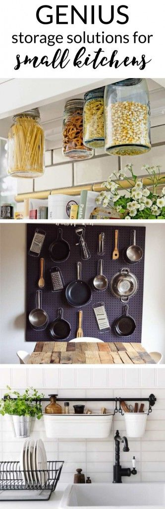 Small Space Kitchen Storage Ideas Part - 37: 43 Awesome Kitchen Organization Ideas   Empty Wall, Space Kitchen And  Utensils