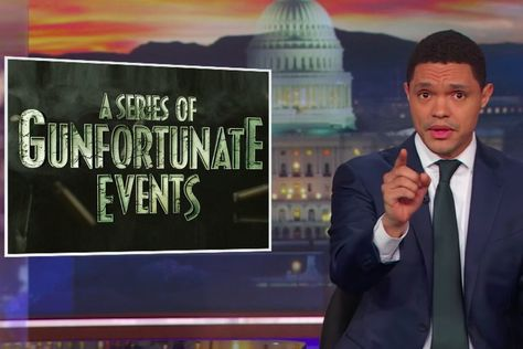 """The Daily Show's """"A Series of Gunfortunate Events"""" Goes After Good Guys With Guns"""