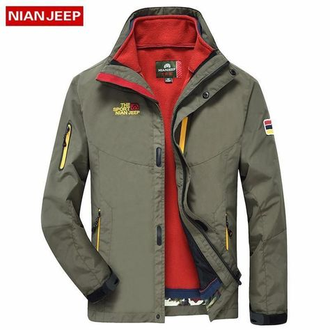 Color : Red, Size : S NIAN Sports Jacket Men Spring and Autumn Mens Thin Jacket Casual Hooded Outdoor