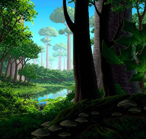 Animated pixel art anyone? Let the running waters soothe your soul - Album on Imgur