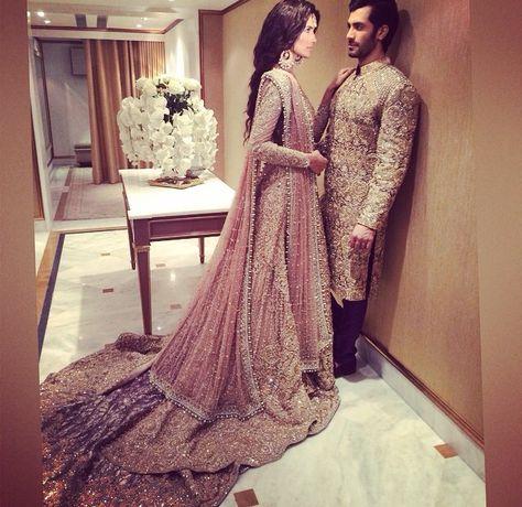 Pakistani couture Faraz manan model Shahzad Noor and Nadia Ali
