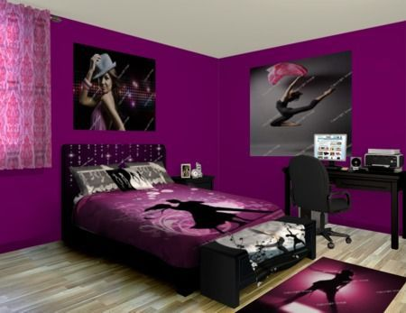 Fans Of The Performance Arts Are Sure To Love This Dance Themed Bedroom Which Is A Perfect Space For Anyone Wi Tween Girl Bedroom Dance Bedroom Bedroom Themes