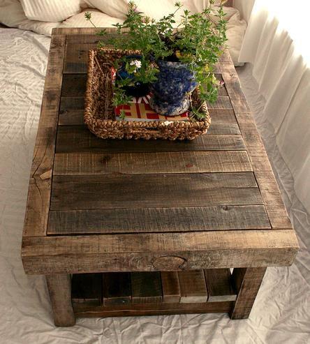 Reclaimed Barnwood Coffee Table Barnwood coffee table Barn wood