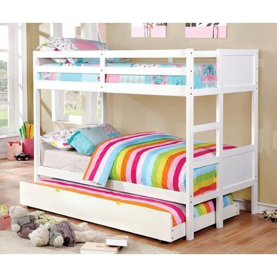 Harriet Bee Santucci Bunk Bed In 2020 White Bunk Beds Cool Bunk Beds Bunk Bed Designs