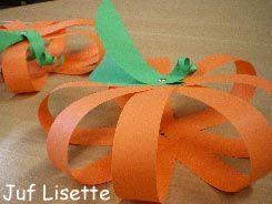 Haloween knutsels: Pompoen met splitpen