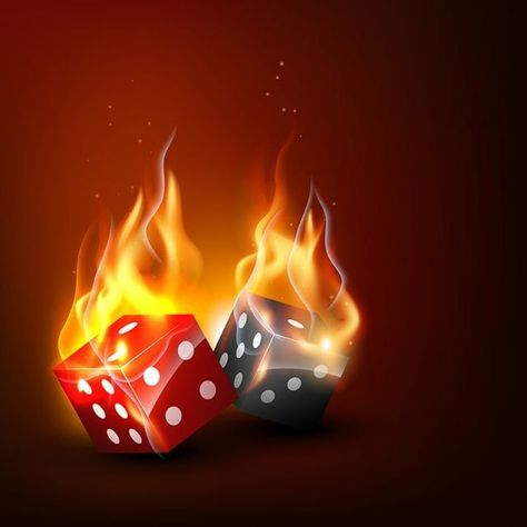 Vector Burning Dice 3d Abstract Activity Png And Vector With Transparent Background For Free Download Casino Candle Dinner Casino Decorations