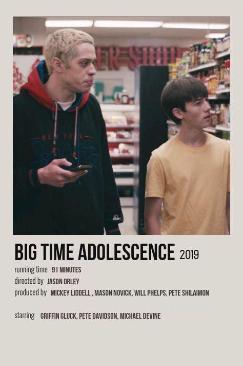 Big Time Adolescence Minimalist Movie Poster Iconic Movie Posters Film Posters Vintage Movie Posters Minimalist