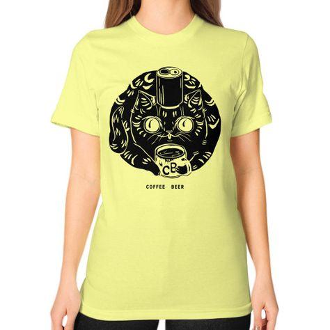 """""""Bee Kitty"""" Unisex T-Shirt (on woman)"""