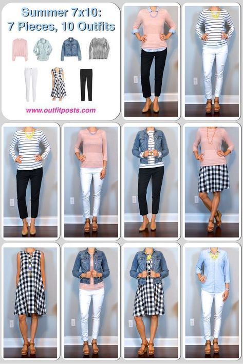 New installment of 7 pieces, 10 outfits for Summer! The idea of this post is to ...  #Idea #installment #Outfits #Pieces #post #Summer