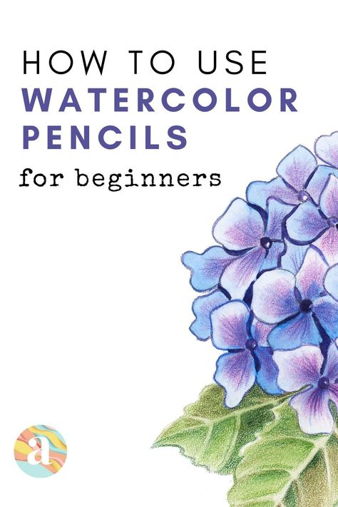 Learn how to use watercolor pencils for complete beginners that you can learn how to do step by step. Watercolor Pencils Techniques, Watercolor Pencil Art, Watercolor Flowers Tutorial, Pencil Painting, Pen And Watercolor, Watercolour Tutorials, Watercolour Painting, Watercolor Art Lessons, Watercolor Projects