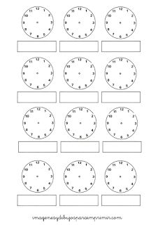 Aprender Las Horas Con Imagenes Imagenes Y Dibujos Para Imprimir Time Worksheets Worksheet For Nursery Class School Printables