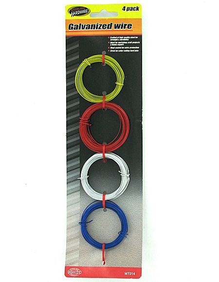 Shop Colored Galvanized Wire Set Case 96 Bargainbrute Com Wire Crafts Blister Card Color Coding