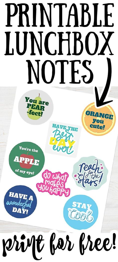 Grab these free printable lunchbox notes and send some encouraging words with your little one during the school day! They will love find these in their lunch each day! #school #lunchbox #backtoschool