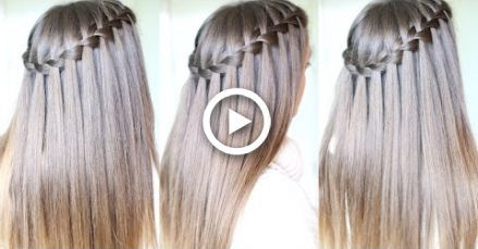 Waterfall Braid Tutorial For Beginners Diy Waterfall Braid