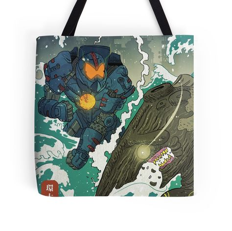 'Pacific Rim' Tote Bag by Devin Kraft