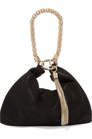 d9f3bc507d Jimmy Choo - Callie Suede Shoulder Bag - Black in 2019 | Products ...
