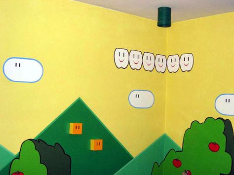Yellow walls. This is cute too!