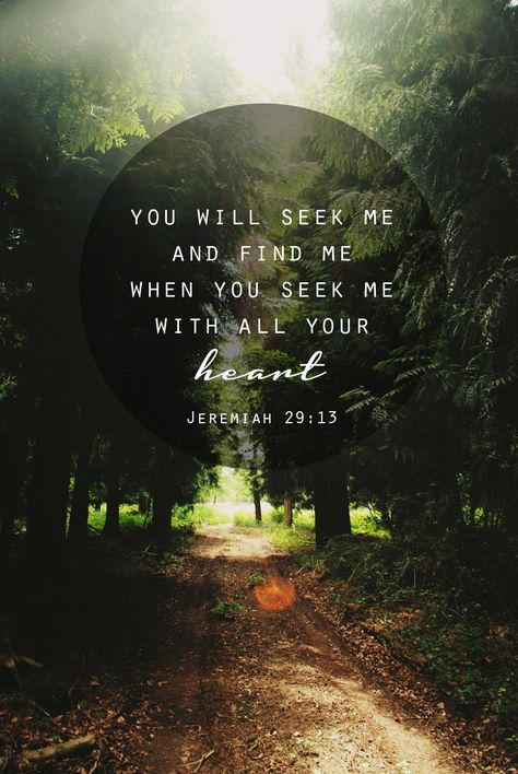 What an incredible promise of God.... Praise Him for being faithful to reveal Himself to us as we seek to know Him!  Jeremiah 29:13