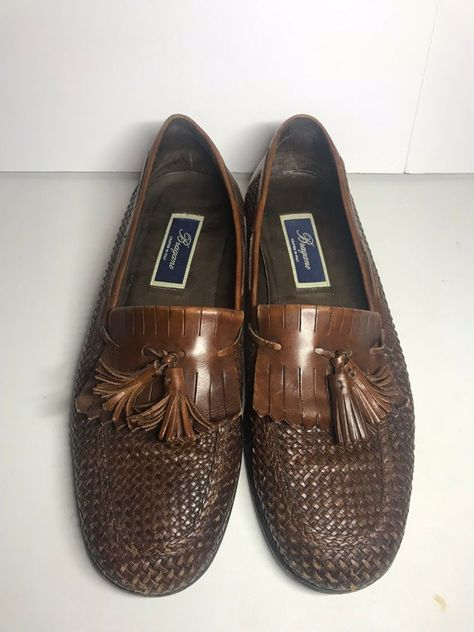 70afe6fb086 Bragano English Calf Men Loafers Basket Weave Tassels Leather Italy Size 10  M  fashion  clothing  shoes  accessories  mensshoes  dressshoes (ebay link)