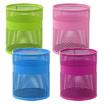 Jot Colorful Perforated Metal Pencil Holders Colored Pencil