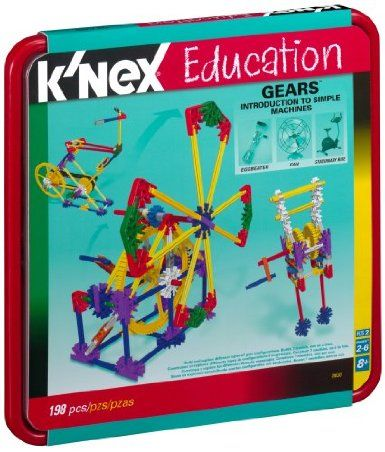Grades Gears Set 198 Pieces K/'NEX Education Intro to Simple Machines